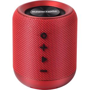 Boxa portabila PROMATE Hummer, Bluetooth, MicroSD, Radio FM, rosu