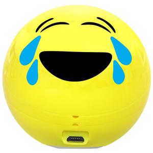 Boxa portabila PROMATE Joyful Emoji, Bluetooth, MicroSD, Galben