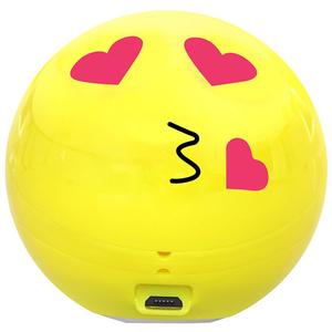 Boxa portabila PROMATE Romantic Emoji, Bluetooth, MicroSD, Galben