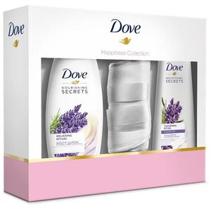 Set DOVE Lavender: Gel de dus 250ml + Sampon 250ml + Masca de dormit