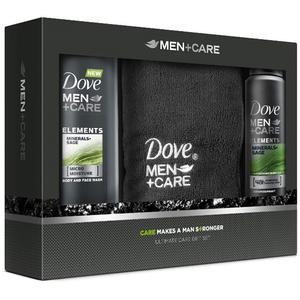 Set DOVE Men Cars Elements: Gel de dus 250ml + Deodorant 150ml + Prosop