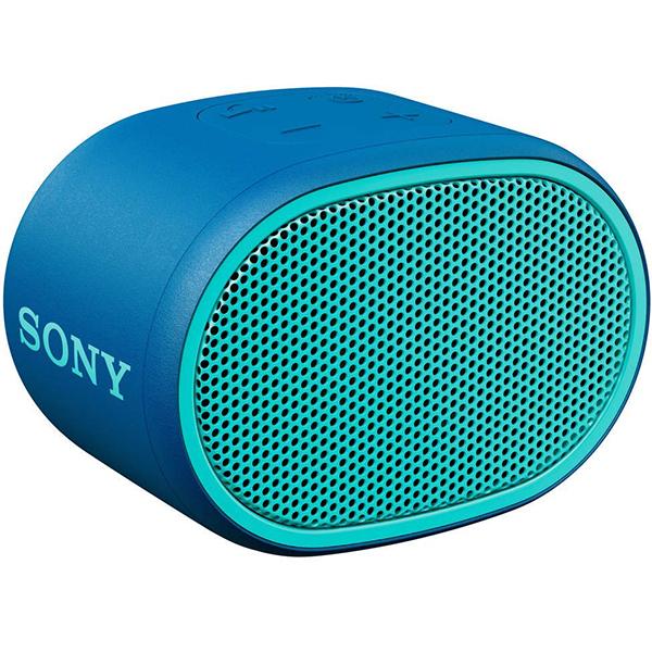 Boxa portabila SONY SRS-XB01L, EXTRA BASS, Rezistenta la stropire, Bluetooth, Hands Free, Autonomie 6 ore, albastru