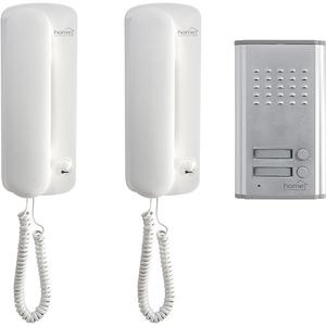 Set interfon de poarta cu fir pentru doua locuinte HOME DP 012