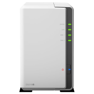 Network Attached Storage SYNOLOGY DS218j, 1.3GHz, 512MB, 2-Bays, alb