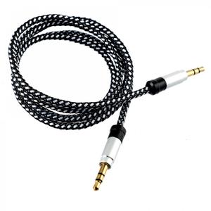 Cablu audio TELLUR TLL311011, Jack 3.5mm, 1m, Argintiu