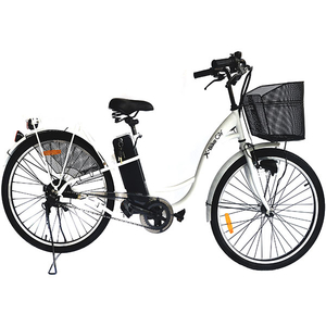 Bicicleta de oras Electrica EVOLIO X-BIKE City, 26 inch, alb