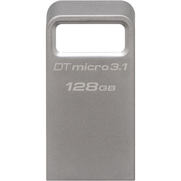 Memoire USB KINGSTON DataTraveler Micro 3.1, 128GB, USB 3.1, argintiu