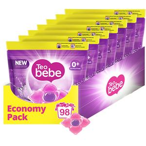 Detergent capsule TEO BEBE Cotton Soft, 98 spalari