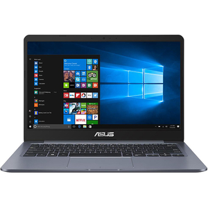 "Laptop ASUS E406MA-EB193TS, Intel® Celeron® N4000 pana la 2.6GHz, 14"" Full HD, 4GB, EMMC 64GB, Intel UHD Graphics 600, Windows 10 HOME S, Star Gray"