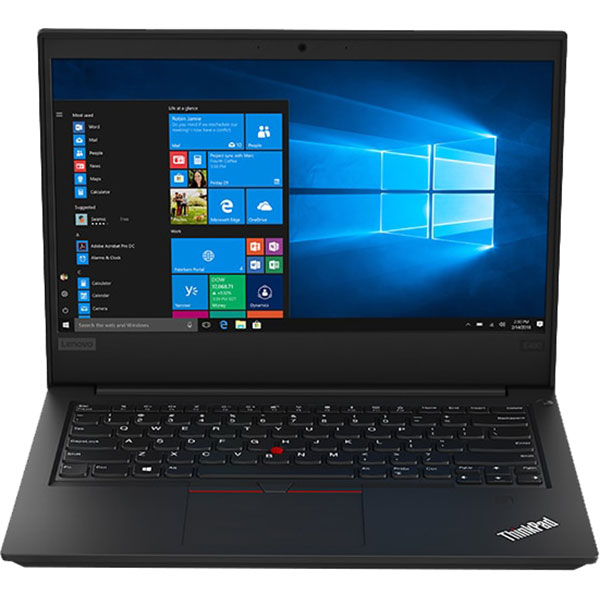 "Laptop LENOVO ThinkPad E490, Intel Core i5-8265U pana la 3.9GHz, 14"" Full HD, 8GB, HDD 1TB + SSD 256GB, Intel UHD Graphics 620, Windows 10 Pro, Negru"