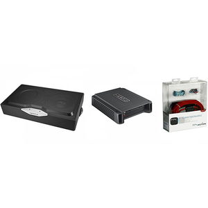 Pachet Subwoofer auto HERTZ EBX F25.5 + Amplificator HCP1D + kit cabluri FPK 700