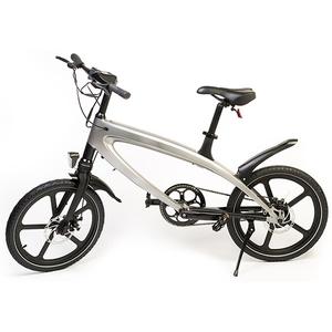 Bicicleta electrica FREEWHEEL E-Bike Revo, 20 inch, argintiu