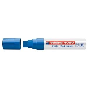 Marker pentru sticla EDDING 4090, creta lichida pe baza de apa, 4-15 mm, albastru