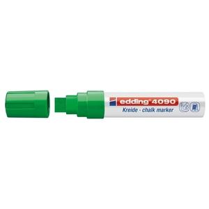 Marker pentru sticla EDDING 4090, creta lichida pe baza de apa, 4-15 mm, verde