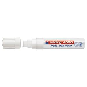 Marker pentru sticla EDDING 4090, creta lichida pe baza de apa, 4-15 mm, alb