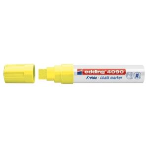 Marker pentru sticla EDDING 4090, creta lichida pe baza de apa,4-15 mm, galben
