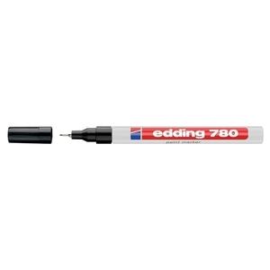Marker permanent cu vopsea EDDING 780, corp aluminiu, 0.8 mm, negru