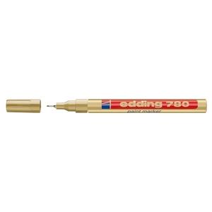 Marker permanent cu vopsea EDDING 780, corp aluminiu, 0.8 mm, auriu