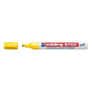 Marker permanent cu vopsea EDDING 8750, corp aluminiu, 2-4 mm, galben