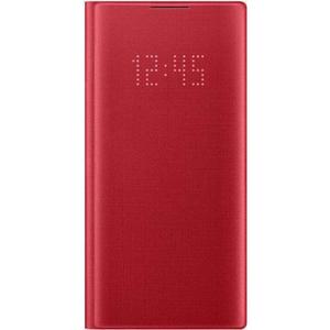 Husa Clear View pentru SAMSUNG Galaxy Note 10, EF-NN970PREGWW, rosu