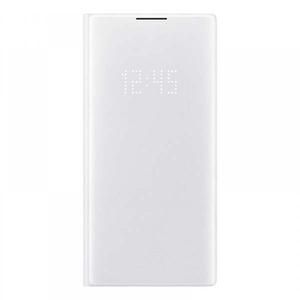 Husa Clear View pentru SAMSUNG Galaxy Note 10 Plus, EF-NN975PWEGWW, alb