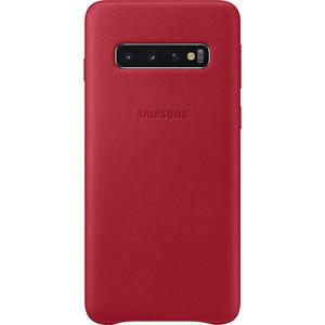Carcasa Leather Cover pentru SAMSUNG Galaxy S10 EF-VG973LREGWW, piele naturala, red