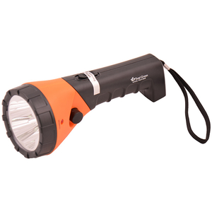 Lanterna LED reincarcabila TOTAL GREEN EL0018702, 5 LED-uri, negru-portocaliu