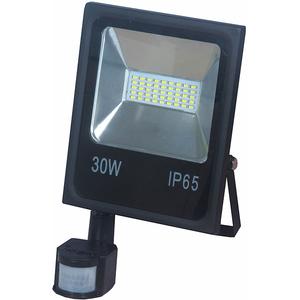 Proiector LED cu senzor de miscare NOVELITE EL0034328, 30W, 2100 lumeni, IP65, negru