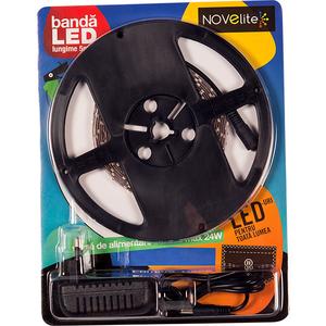 Banda LED cu alimentator NOVELITE EL0036268, 4.8W, 252 lumeni, 5m