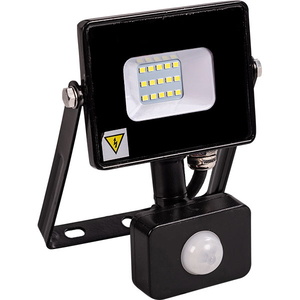 Proiector LED cu senzor de miscare NOVELITE EL0037208, 10W, 800 lumeni, negru