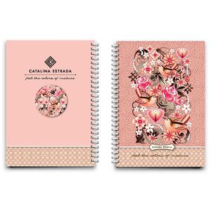 Caiet pentru scoala CATALINA ESTRADA, dictando, A6, 80 file, legatura spirala, roz