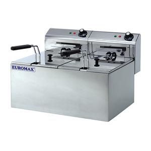 Friteuza electrica EUROMAX EMX-10370C, 16l, inox