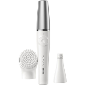Epilator facial BRAUN FaceSpa Pro 910, 2 in 1, Wet & Dry, alb