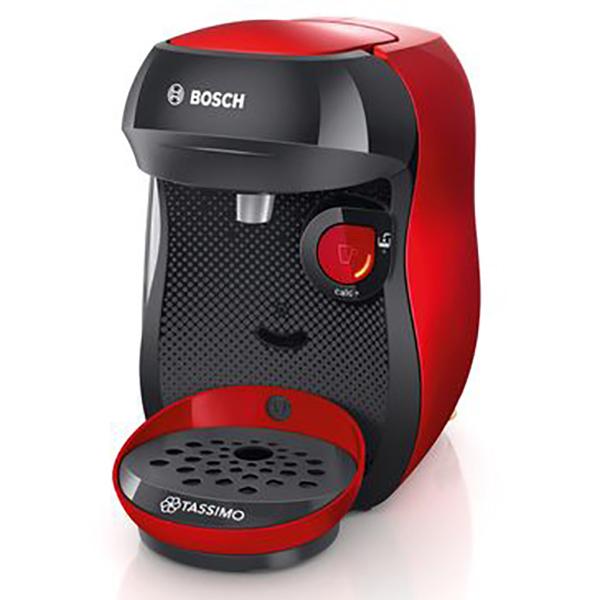 Espressor BOSCH Tassimo Happy TAS1003, 0.7l, 1400W, rosu - negru