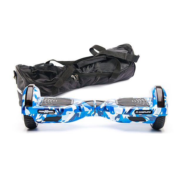 Scooter electric FREEWHEEL F1 Complete, 6.5 inch, camuflaj blue + husa cadou