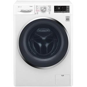 Masina de spalat rufe cu uscator LG F2J7HG2W, Steam, Wi-Fi, 7/4kg, 1200rpm, B, alb