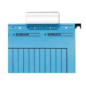 Suport etichete suspendabile FALKEN, 50 bucati, plastic, transparent
