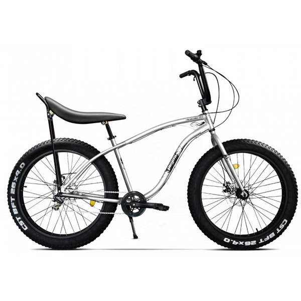 Bicicleta Fat Bike PEGAS Cutezator Ev Banana 7S, alb