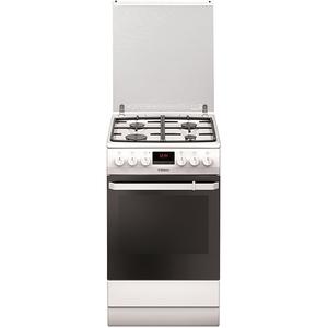 Aragaz HANSA FCMW59299, 4 zone de gatit, plita pe gaz cuptor electric, alb
