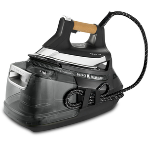 Statie de calcat ROWENTA Silence Pro DG9268F0, 1.3l,  600g/min, 2800W, talpa Microsteam 400HD 3De Laser, negru