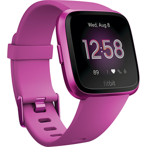 Smartwatch FITBIT Versa Lite FB415PMPM, Android/iOS, silicon, Mulberry