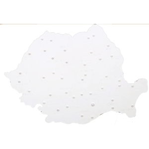 Sablon harta Romaniei FLARO, 185 x 255 mm, alb