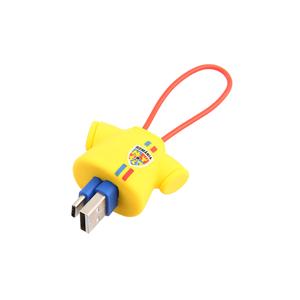 Cablu date TELLUR FRF0000015 Tricou, microUSB, 16cm, galben
