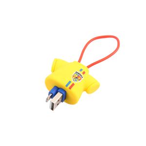 Cablu date TELLUR FRF0000016 Tricou, TypeC, 16cm, galben