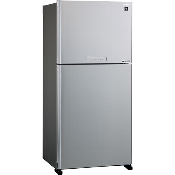 Frigider cu doua usi SHARP SJ-XG640MSL, Hybrid Cooling, 516 l, H 177 cm, Clasa A++, argintiu