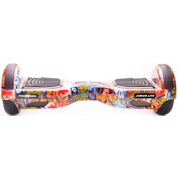 Scooter electric FREEWHEEL Junior Lite, 6.5 inch, viteza 12 km/h, motor 2 x 250W Brushless, graffiti albastru