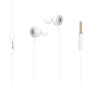 Casti PROMATE Flano, Cu Fir, In-ear, Microfon, alb