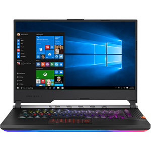 "Laptop Gaming ASUS ROG Strix Scar III G531GW-AZ115T, Intel Core i9-9880H pana la 4.8GHz, 15.6"" Full HD, 16GB, HDD 1TB + SSD 512GB, NVIDIA GeForce RTX 2070 8GB, Windows 10 Home, Gunmetal"