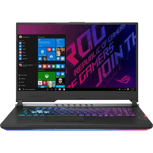 "Laptop Gaming ASUS ROG Strix Scar III G731GW-EV042T, Intel Core i7-9750H pana la 4.5GHz, 17.3"" Full HD, 16GB, SSD 512GB + HDD 1TB, NVIDIA GeForce RTX 2070 8GB, Windows 10 Home, Gunmetal"