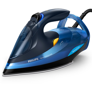 Fier de calcat PHILIPS Azur Advanced GC4932/20, 350ml, 220g/min, 2600W, talpa SteamGlide Plus, albastru